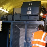 Industrial shredder at RDC in Witham used to shred ID card hard drives