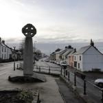 Bodmin in Cornwall - Cornish cross on street