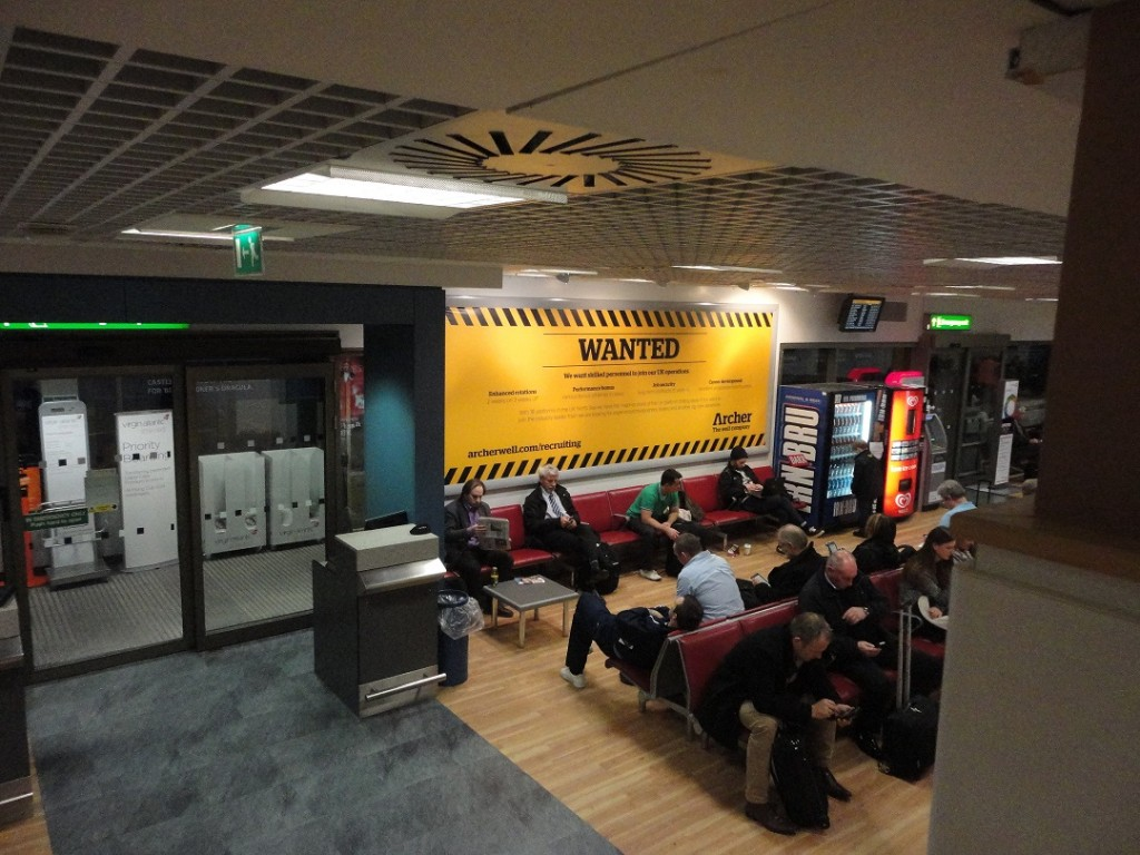 Iron men: Aberdeen airport's departure lounge