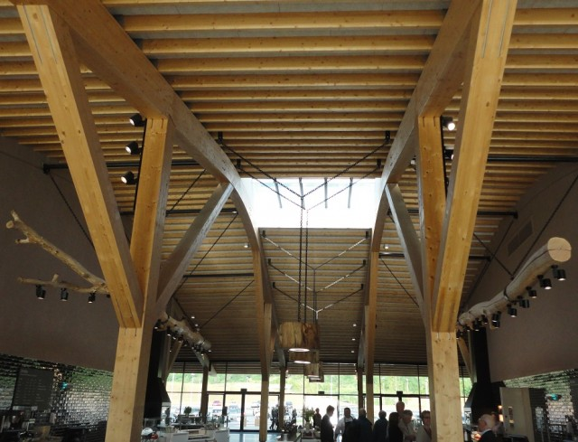 Not too shabby, really quite chic: the barn-style roof