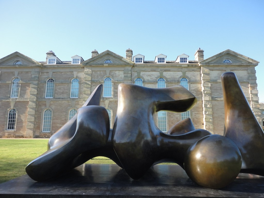 Well-rounded: a Henry Moore statue at Compton Verney in March 2014