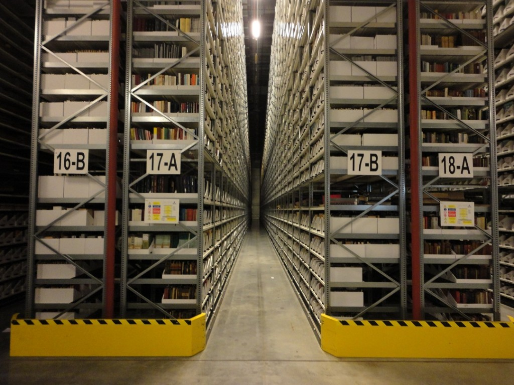 Book Storage Facility aisle