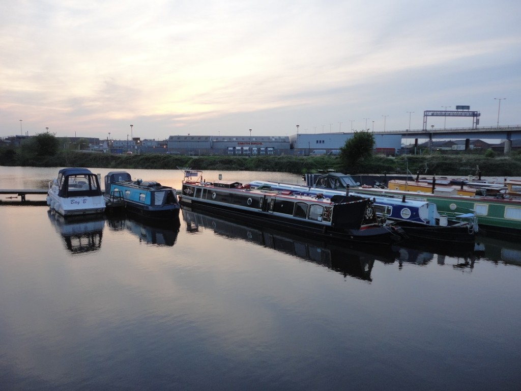 Doncaster waterfront with patriotically named flyover in background