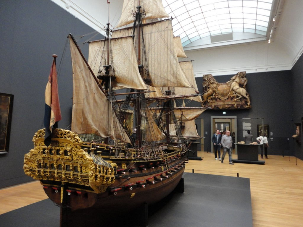 A model of the William Rex at the Rijksmuseum in Amsterdam